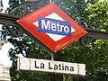 La Latina, cartel del Metro de Madrid, línea 5.JPG