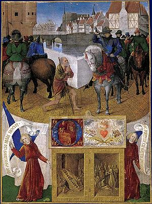 Martin of Tours - The Charity of St. Martin, by Jean Fouquet