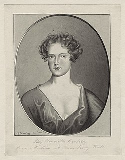 Lady Henrietta Berkeley English aristocrat