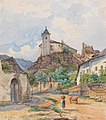 Lafite – View of the Castle Ruins of Rehberg in the Municipality of Krems, 1852.jpg