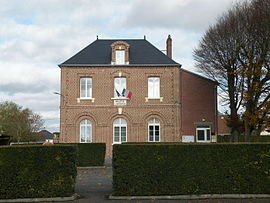 The town hall in Lafraye