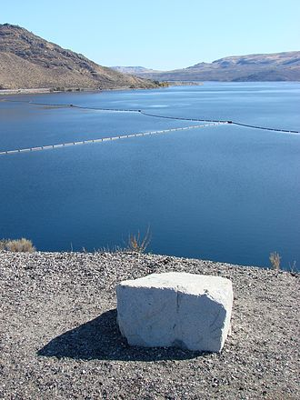 Lake Roosevelt National Recreation Area - Lake Roosevelt atop Coulee Dam