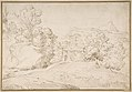 Landscape with a Pedimented Temple and Two Figures MET DP800027.jpg