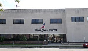 Lansing State Journal - Former Lansing State Journal headquarters from 1951 to 2016