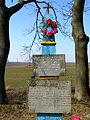 Laskiv Vol-Volynskyi Volynska-brotherly grave of soviet warriors-details.jpg