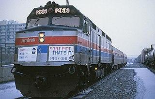 <i>Fort Pitt</i> (train) former Amtrak train