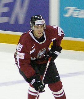 Lauris Dārziņš Latvian ice hockey player
