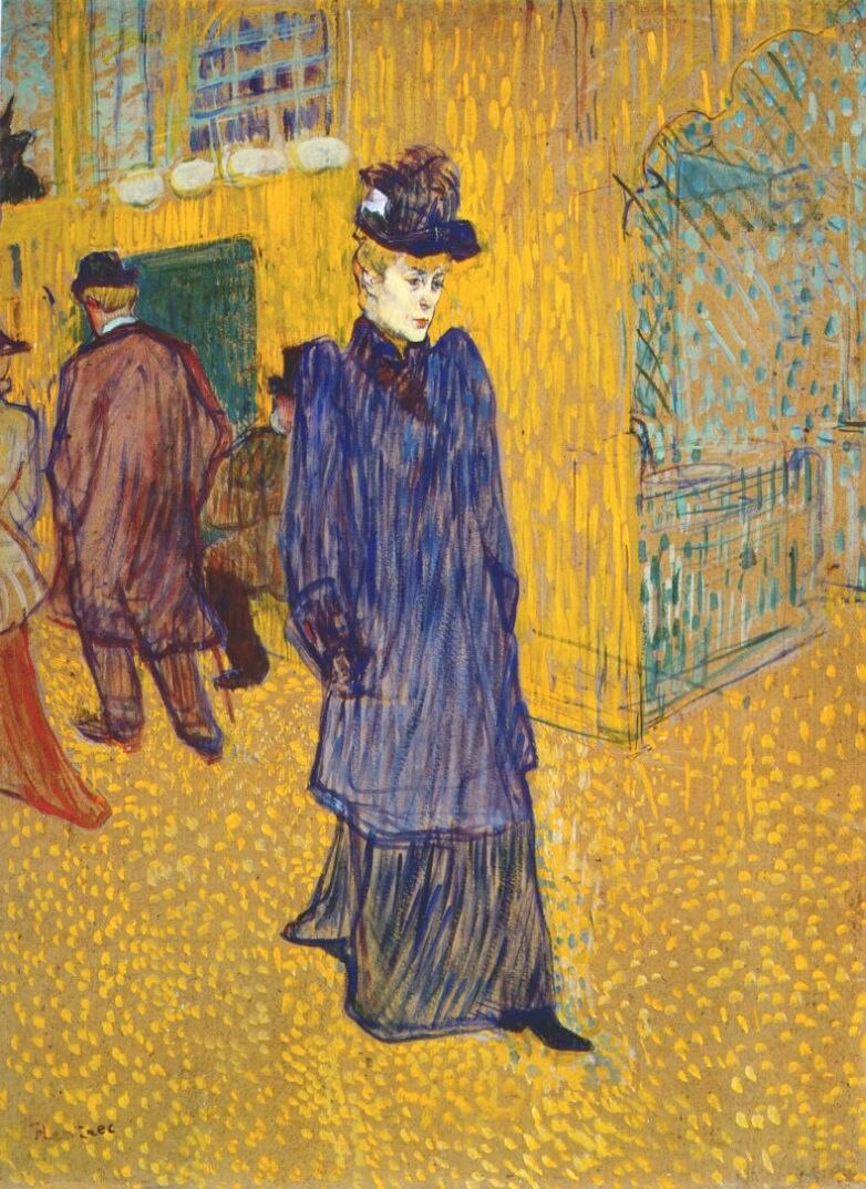 Lautrec jane avril leaving the moulin rouge 1892
