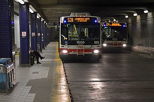 Lawrence station (Toronto) - Underground bus platforms