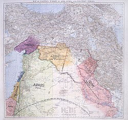 1918 map of the Middle East