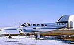 Lawton, Oklahoma - Municipal Airport - February 1978 - Cessna 421 Golden Eagle - N799KC (5431301185).jpg