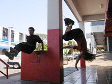 Brazilian freerunners move fluidly through urban environment