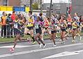 Leaders running women marathon Rotterdam.JPG