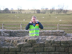 Leahill Turret, Hadrian's Wall - A volunteer stationed at Leahill Turret 51B, one of Cell 27 of the event volunteer 'legions'.