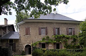 Jean-Jacques Rousseau - Les Charmettes, where Rousseau lived with Mme. de Warens in 1735–36, now a museum dedicated to Rousseau.
