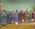 Les Mandarins et les Autorites Françaises Attendant L'Arrivee de l'Empereur Thanh Thai.jpg