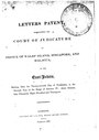 Letters Patent Establishing the Court of Judicature at Prince of Wales' Island, Singapore, and Malacca, in the East-Indies (27 November 1826; published February 1827).pdf