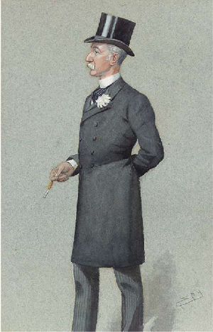 "Lewis McIver - ""the Member for Scotland"" McIver as caricatured by Spy (Leslie Ward) in Vanity Fair, July 1896"