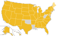 Libertarian Party Ballot Access Locator Map, 2008 (United States of America).png