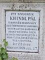 Lieutenant Pál Khindl †1919, 2020 Jászapáti.jpg