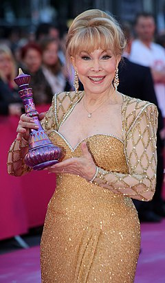 Barbara Eden Life Ball 2013 - magenta carpet Barbara Eden 01.jpg