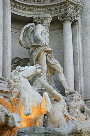 Pietro Bracci - Oceanus (or Neptune) of the Trevi Fountain