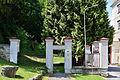 Lilienfeld - Naturdenkmal LF-021 - Parkanlage im Stift Lilienfeld - 01 - Zebra-Thuja (Thuja plicata Zebrina).jpg