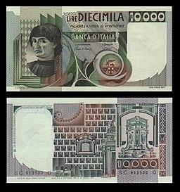Lire 10000 (cosiddette Machiavelli)