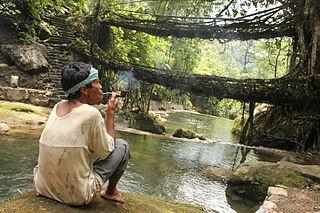 Nongriat village in Meghalaya, India