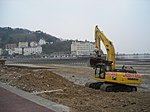 Llandudno Promenade Work being carried out to protect the promenade.