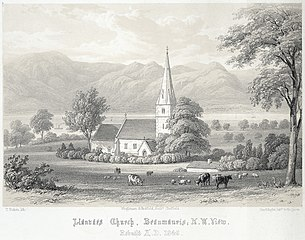 Llanvaes church, Beaumaris: N.W. view: rebuilt A.D. 1845