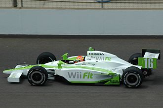 Alex Lloyd (racing driver) - Lloyd practising for the 2008 Indy 500