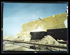 Loading box cars with sulphur, Freeport Sulphur Co.1a35435v.jpg