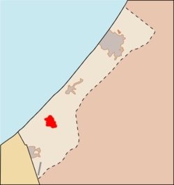 Location o Khan Yunis in the Gaza Strip