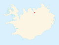 Location of Vaglaskógur within Iceland.png