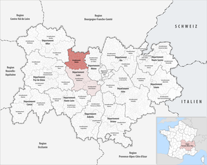 Arrondissement of Roanne - Image: Locator map of Arrondissement Roanne 2017
