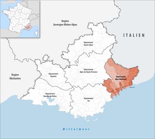Lage des Alpes-Maritimes