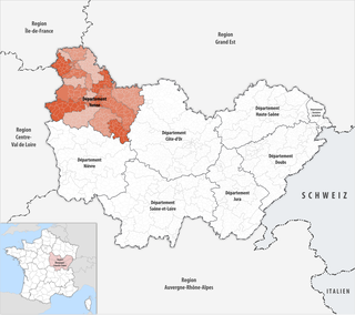 Location of the Yonne
