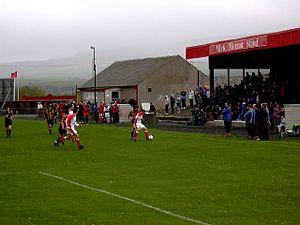 Glenafton Athletic F.C. - The club's home ground