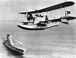 Loening OL flying over USS Lexington (CV-2) c1930.jpg