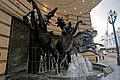 London - Haymarket - Piccadilly Circus - View WSW on 'Horses of Helios' 1992 by Rudy Weller.jpg