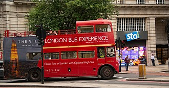 Tourism in London - In spite of heavy traffic, several companies operate tour buses in London.