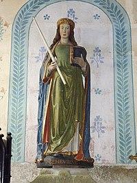 Loqueffret 13 Eglise Sainte-Geneviève Statue de sainte Geneviève.JPG