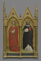 Saints Agnes and Dominic and Two Evangelist