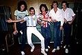 Los miembros de Queen junto a Diego Maradona en Argentina, 1981 - 02.jpg