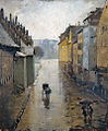 Lothar Von Seebach, La rue de la Douane à Strasbourg, effet de pluie.jpg