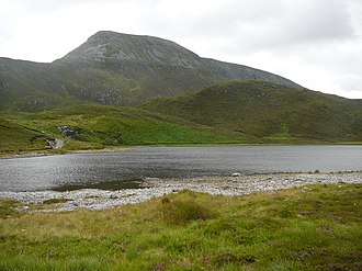 Muckish - Image: Lough Naboll below Muckish Mountain geograph.org.uk 1052622
