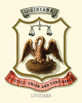 Seal of Louisiana - Historical coat of arms (1876)