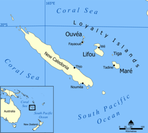 Lifou Island - Image: Loyalty Islands map