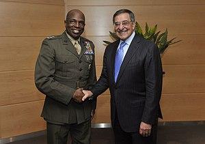 Walter E. Gaskin - Image: Lt Gen Gaskin and Sec Def Panetta